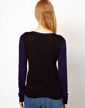 Image 2 ofWhistles Adele Colour Block Sweater