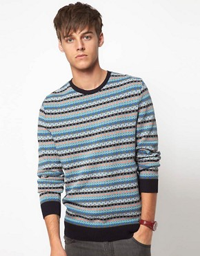 Image 1 of ASOS Lightweight Fairisle Jumper