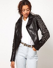 Blue Valley Heavy Stud Biker Jacket