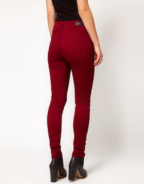 Image 2 ofSelected Annie Twill Jeans In Red Syrah