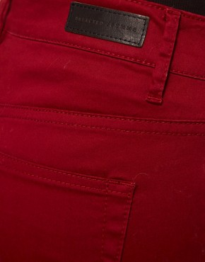 Image 3 ofSelected Annie Twill Jeans In Red Syrah