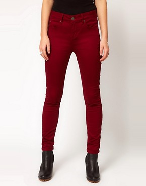 Image 1 ofSelected Annie Twill Jeans In Red Syrah