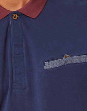 Image 3 ofBoxfresh Polo With Chambray Pocket