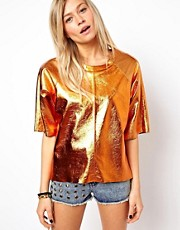 ASOS T-Shirt in Copper Leather