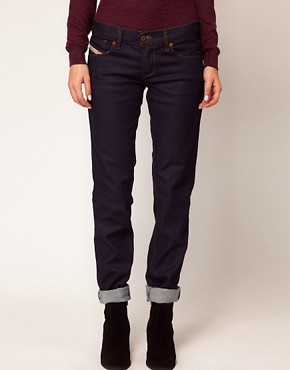 Image 1 ofDiesel Getlegg Raw Skinny Jeans