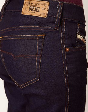 Image 3 ofDiesel Getlegg Raw Skinny Jeans