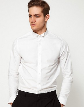 Image 1 ofASOS Smart Shirt With Wing Collar