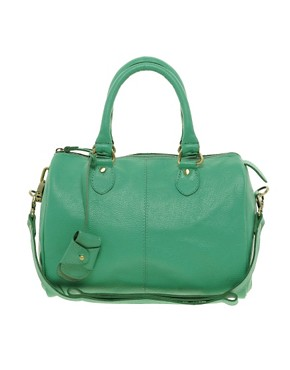 Image 1 ofASOS Leather Bowler Bag