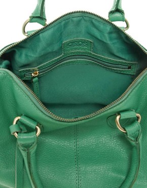 Image 2 ofASOS Leather Bowler Bag