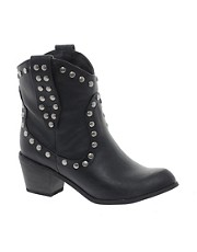 London Rebel Libra Studded Western Boot