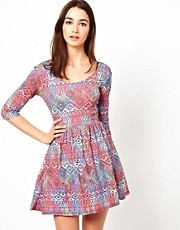 A Wear Scoop Back 3/4 Sleeve Jersey Dress