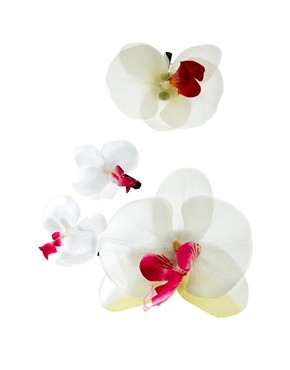 Image 2 ofLimited Edition Orchid Flower Hair Grips