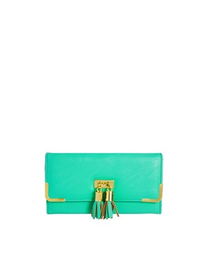 Image 1 ofASOS Tassel Detail Purse With Metal Corners