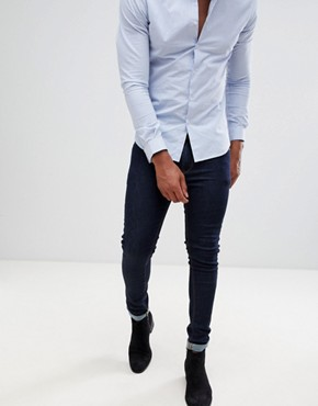 ASOS Super Skinny Jeans In Raw Blue