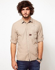 G Star Shirt Field Poplin Roll Up Sleeve