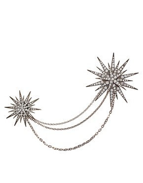 Image 1 ofASOS Starburst Double Brooch