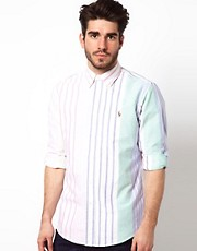 Polo Ralph Lauren Shirt in Custom Fit Candy Oxford Stripe