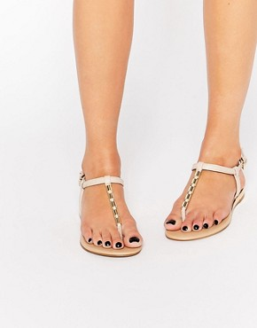 ALDO Falera Nude Gold Tube Flat Sandals