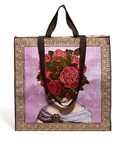 Bolso shopper con cabeza de flores de Blue Q