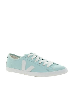 Image 1 ofVeja Taua Blue Leather Trainers