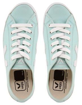 Image 2 ofVeja Taua Blue Leather Trainers