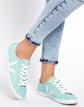 Image 3 ofVeja Taua Blue Leather Trainers