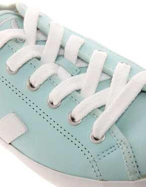 Image 4 ofVeja Taua Blue Leather Trainers
