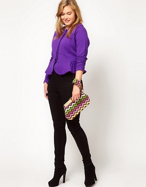 Image 4 ofASOS CURVE Peplum Jacket