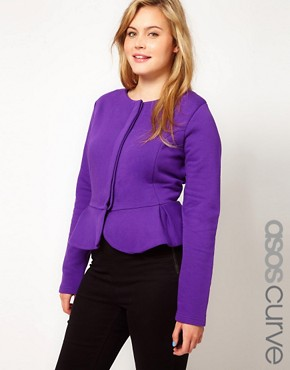 Image 1 ofASOS CURVE Peplum Jacket