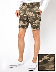 Pantalones cortos de traje con estampado de camuflaje de Lambretta