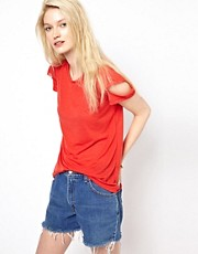 LNA Del Cut Out T-Shirt
