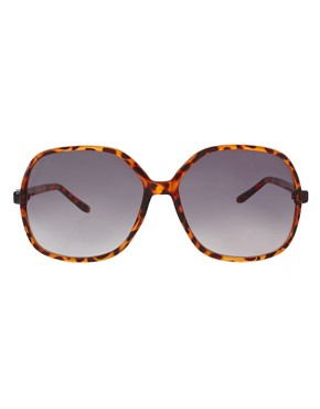 Image 2 of ASOS Oversized '70s Tortoise Sunglasses