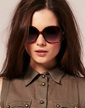 Image 3 ofASOS Oversized &#39;70s Tortoise Sunglasses