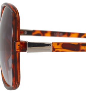 Image 4 of ASOS Oversized '70s Tortoise Sunglasses