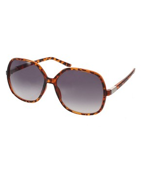 Image 1 of ASOS Oversized '70s Tortoise Sunglasses
