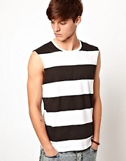 ASOS Stripe Sleeveless T-Shirt