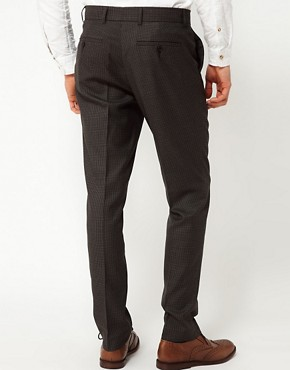 Image 2 ofASOS Slim Fit Smart Trousers in Dogstooth