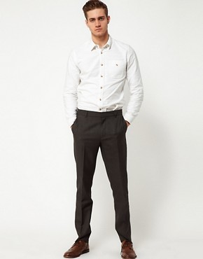 Image 4 ofASOS Slim Fit Smart Trousers in Dogstooth