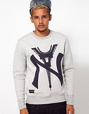 Two Angle NY Crew Neck Sweatshirt