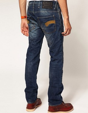 Image 2 ofG Star Heller Low Straight Jeans