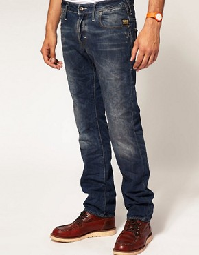 Image 1 ofG Star Heller Low Straight Jeans
