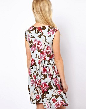 Image 2 ofASOS Smock Dress In Vintage Print
