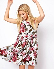 ASOS Smock Dress In Vintage Print
