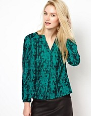BA&amp;SH Blouse in Printed Cotton