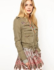 Pepe Jeans Embellished Parka