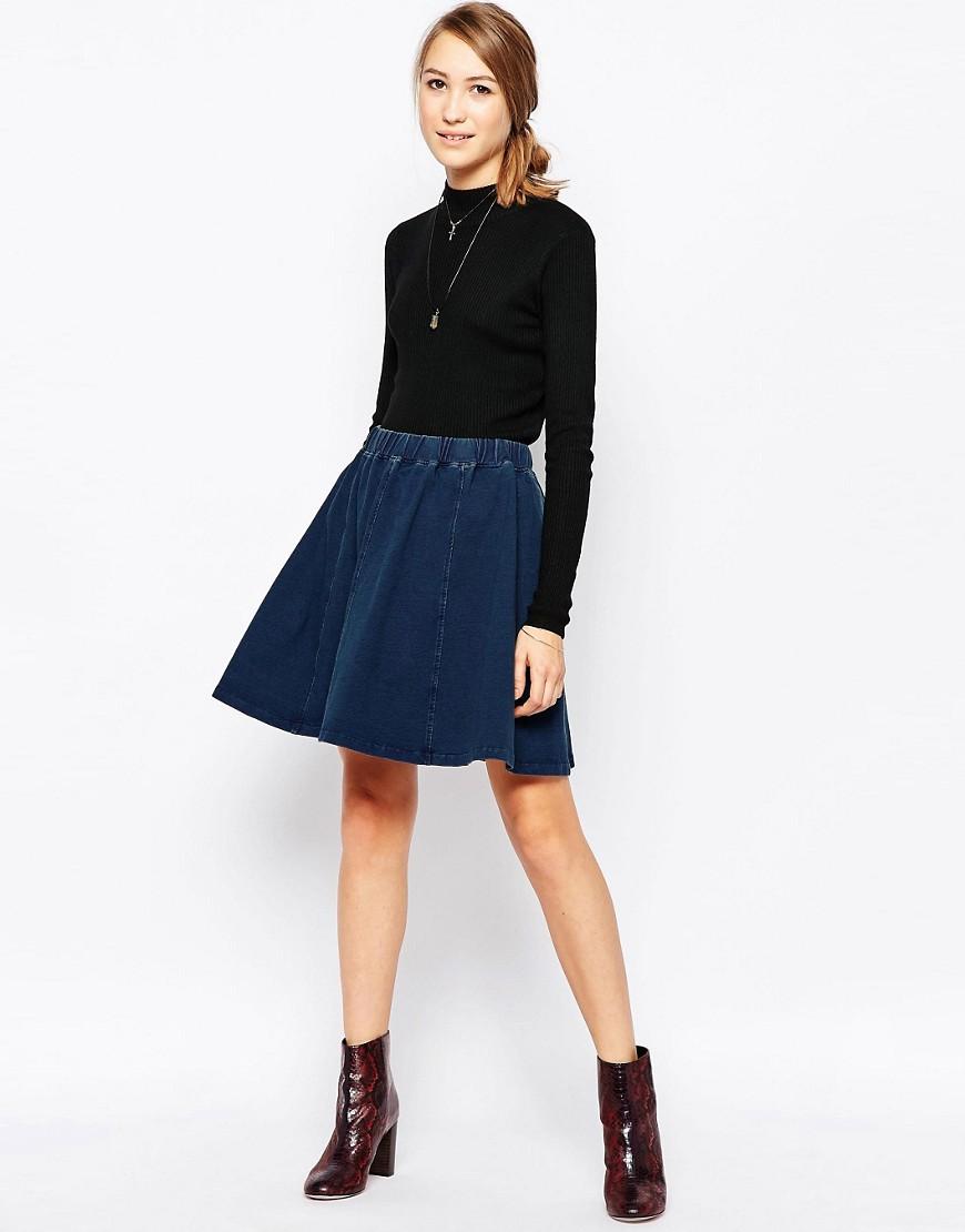 Расклешенная юбка Ichi - Синий