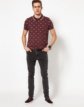 Image 4 ofASOS Polo With Flag Print