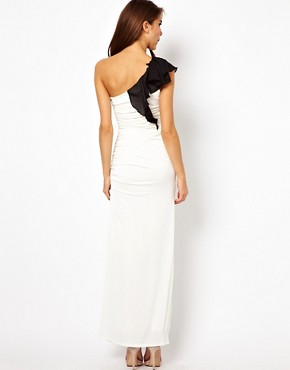 Image 2 ofLipsy One Shoulder Maxi Dress with Ruffle Detail