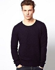 J Lindeberg Jumper With Knitted Self Pattern