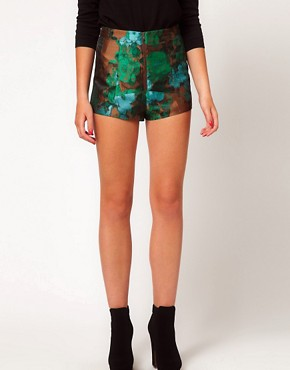 Image 4 of ASOS Knicker Short in Woodland Jacquard